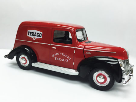 Chevron Texaco & Ford 1940 Official Licensed 1:18 Die Cast Panel Van (Truck Size 9.5 Inches)
