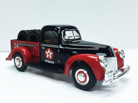 Chevron Texaco & Ford 1940 Official Licensed 1:32 Die Cast Pick Up Truck With Tires (Truck Size 5.5 inches)