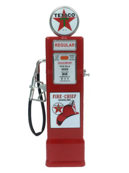 Chevron Texaco & Ford 1940 Official Licensed 1:8 Die Cast Gas Pump Coin Bank (Size 10.5 inches)