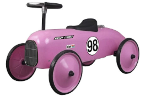 Shelby Cobra Stamped Steel Metal Racer Foot To Floor Ride-On (Pink)
