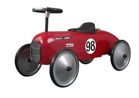 Shelby Cobra Stamped Steel Metal Racer Foot To Floor Ride-On (Red)