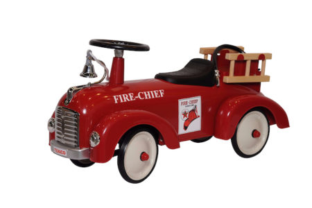 Chevron Texaco Official Licensed Stamped Steel Fire Truck Speedster Foot To Floor Ride-On With Bell & Ladder