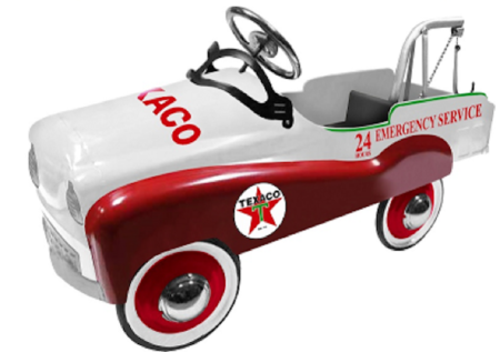 Chevron Texaco Official Licensed Tow Truck Stamped Steel Pedal Ride-On