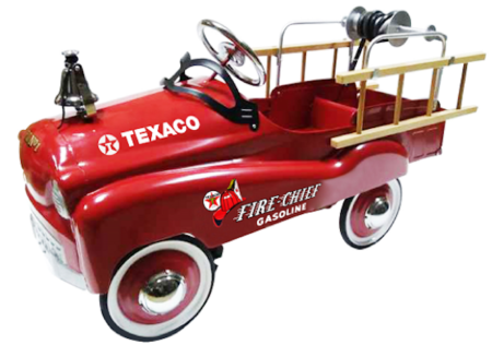 Chevron Texaco Official Licensed Champion Fire Chief Stamped Steel Pedal Ride-On (Red)