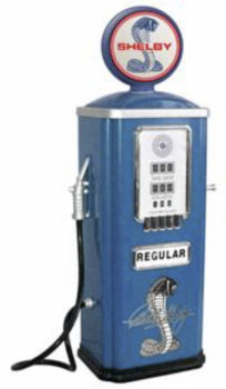 Shelby Cobra Official Licensed Stamped Steel Gas Pump