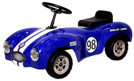 Shelby Cobra Stamped Steel Foot To Floor Ride-On (Blue)