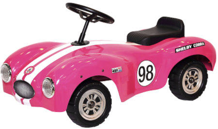 Shelby Cobra Official Licensed Stamped Steel Foot To Floor Ride-On (Pink)