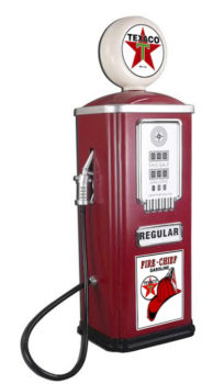 Chevron Texaco Stamped Steel Gas Pump