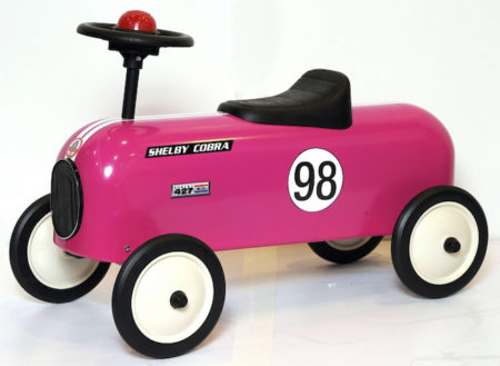 Shelby Cobra Stamped Steel Junior Metal Racer Foot To Floor Ride-On (Pink)