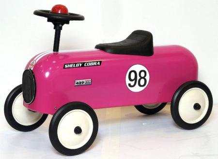Shelby Cobra Stamped Steel Junior Metal Racer Foot To Floor Ride-On (Pink)