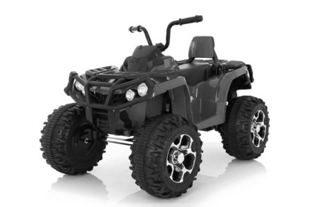 Wonderlanes Black Adventure ATV: Battery Powered Ride-On