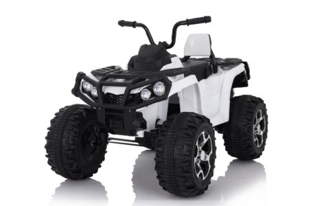 Wonderlanes White Adventure ATV: Battery Powered Ride-On