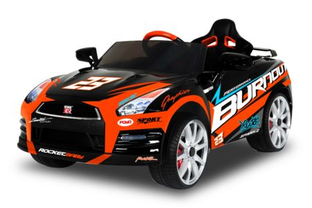 Nissan GTR-R35 Ride-On with Racing Deco: 12V Battery Powered Ride-On