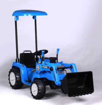 Ford Tractor with Loader & Canopy: 12V Battery Powered Ride-On