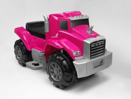Pink Mack Truck: 6V Battery Powered Ride-On
