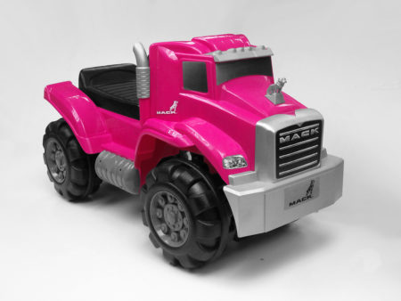 Pink Mack Truck: Foot To Floor Ride-On