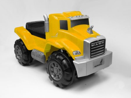 Yellow Mack Truck: Foot To Floor Ride-On