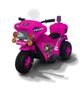 Wonderlanes Pink Lil Police Motorcycle: 6V Battery Powered Ride-On